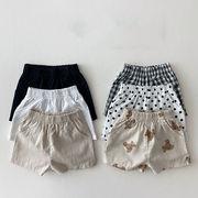 2021年夏新作 子供服 キッズ ベビー服 韓国風 パンツ ズボン ショート 4色73-100