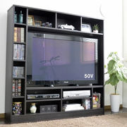 テレビ台 ハイタイプ 135幅 50インチ対応 ダークブラウン 壁面収納