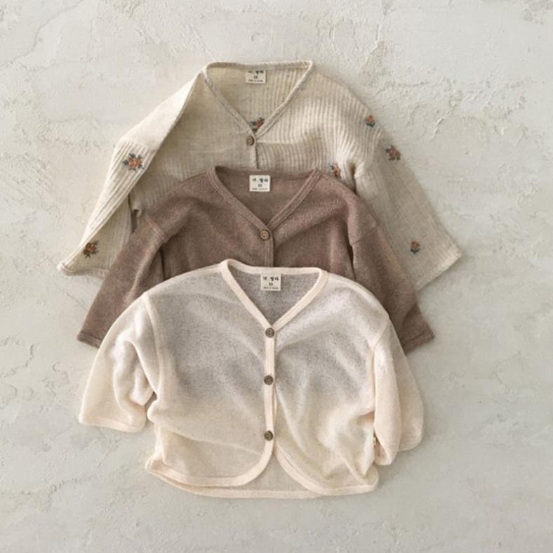 韓国スタイル ins 赤ちゃん 子供服 夏 シャツ シンプル アウター 上着 日焼け止め服 男の子 女の子
