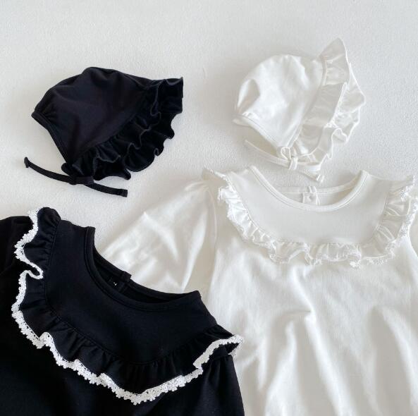 秋 ベビーロンパース+帽子 韓国風 キッズ 可愛い 新作 子供服 ベビー服 オールインワン