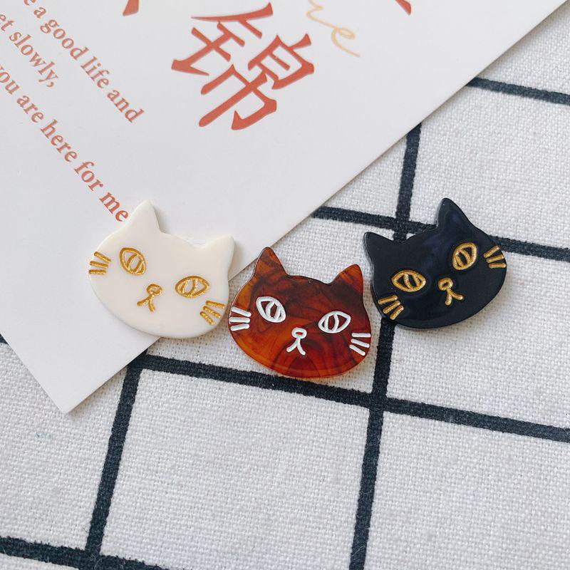 チャーム 部品 DIY アクセサリーパーツ 猫 ハンドメイド ネコ デコパーツ ねこ アクリル パーツ 穴なし