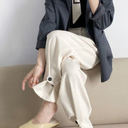 2021年★春夏新作★ レディース 韓国風 パンツ 無地 通勤 気質 ファッション 3色M-L