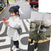 韓国風子供服 韓国ファッション 可愛い 子供服 韓国風ジャケット カーキ