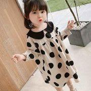 大人気 韓国子供服   韓国ファッション  水玉ワンピース フリル シフトドレス 子供服 キッズ