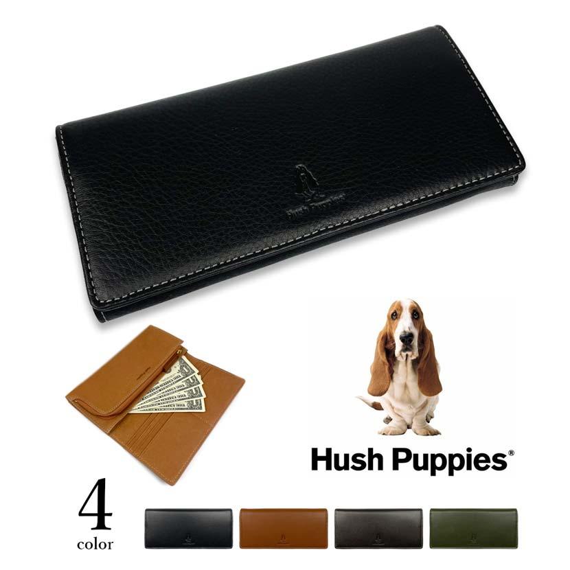 全4色 Hush Puppies ハッシュパピー リアルレザー バイカラー 二つ折り長財布 ロングウォレット