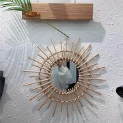 鏡 クリエイティブ 装飾 牧歌的なスタイル 壁掛け