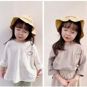 2021春秋新作 子供服 キッズ 韓国風  長袖 Tシャツ 女の子  2色80-130