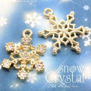 ★入数変更★L&A original charm★雪の結晶チャーム★煌めくK16GP&本ロジウム★snow crystal★