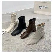ブーツ ショートブーツ チェルシー チャッカブーツ ロンドン風 マーティン PU レディース