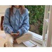 2021年秋新作 レディース 韓国風 セーター ニット 長袖 気質 上品 おしゃれ 2色フリー