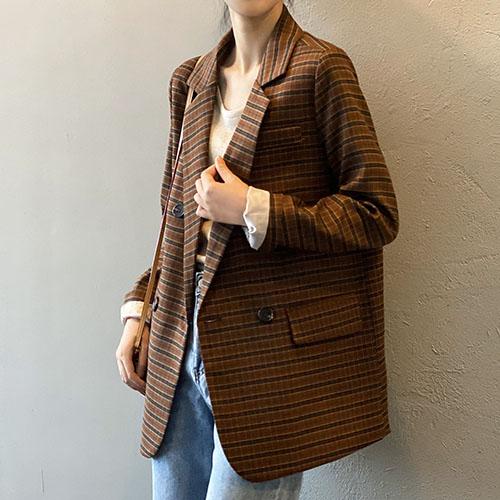 秋冬新作 チェック柄のスーツ カジュアルスーツのジャケットy5240