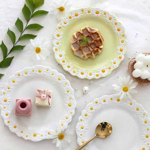 韓国ファッション セラミックプレート 家庭用 朝食プレート デザートプレート