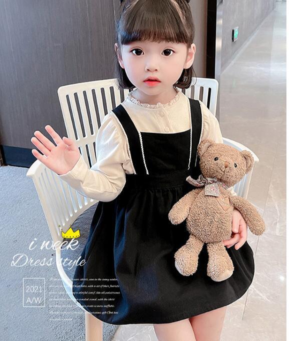 初秋の女の子の子供服かわいいドレス子供服子供シャツ2点セット
