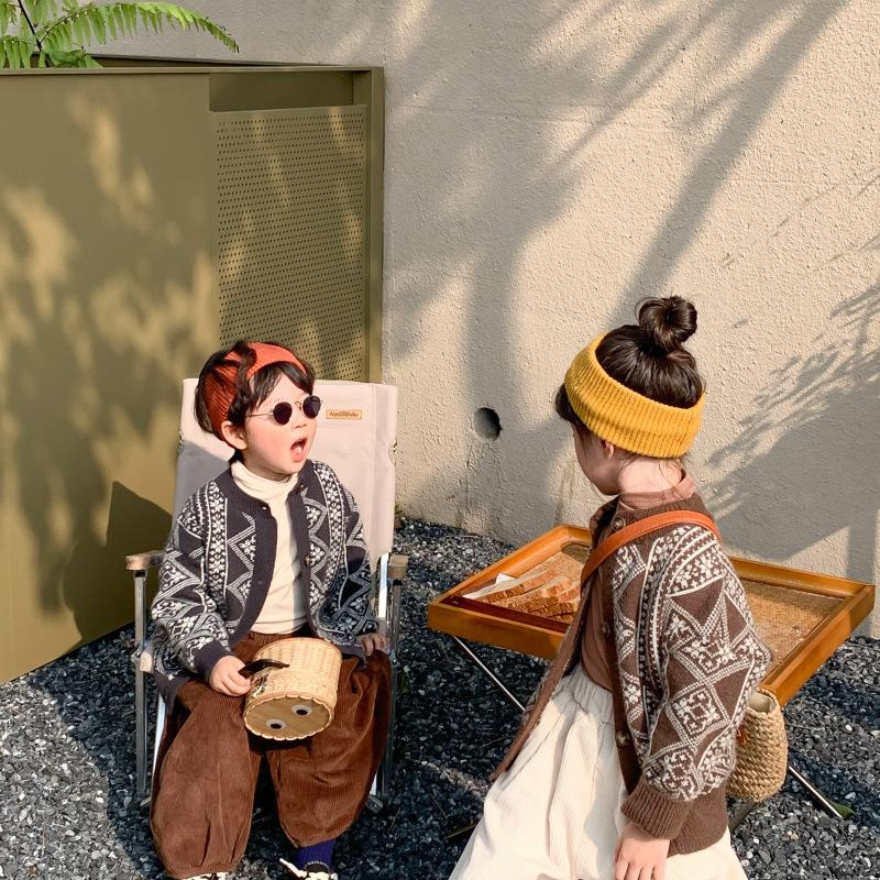 m18877 ニット カーディガン 2色 新作 男の子 女の子 長袖 キッズ 韓国子供服 SALE