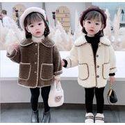 韓国風★ 新しい   韓国風★ 子供用   ウールラムジャケット    子供用カジュアル子供服   女の子