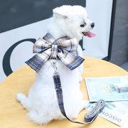 ペット用品 ドッグウェア 猫雑貨 犬服 犬 ハーネス リード付 2点セット ペット 服 ウェアハーネス 胴輪