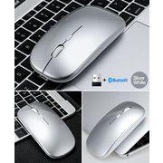 マウス ワイヤレスマウス 無線 Bluetoothマウス 超静音 バッテリー内蔵 充電式 超薄型