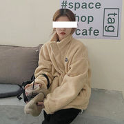2Way フェイク息子羊ウール アウターウェア 女性服 春秋 ウインター 新しいデザイン