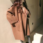 【2021秋冬新作】大人気 ファッション 韓国 レーディス ロング ゆったり コート