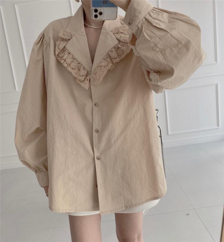 韓国ファッション トップス ヤングスタイル sweet系 縫付 ゆったりする シャツ
